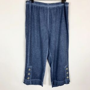 Soft Surroundings Gauze Crop Pants Women's Size XL